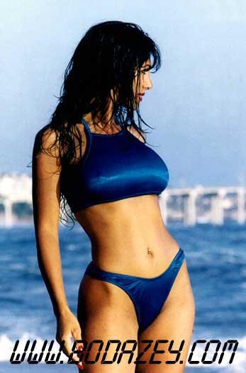 Exotic bikini model